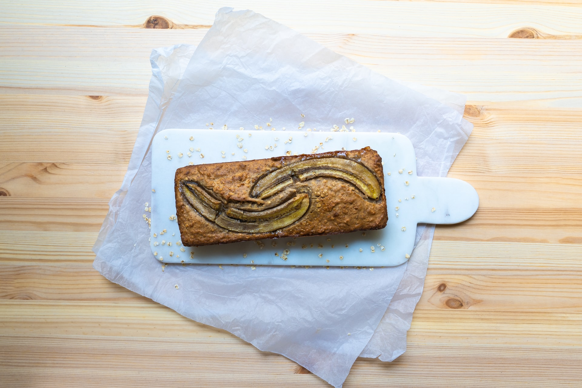 banana bread fresh out the oven
