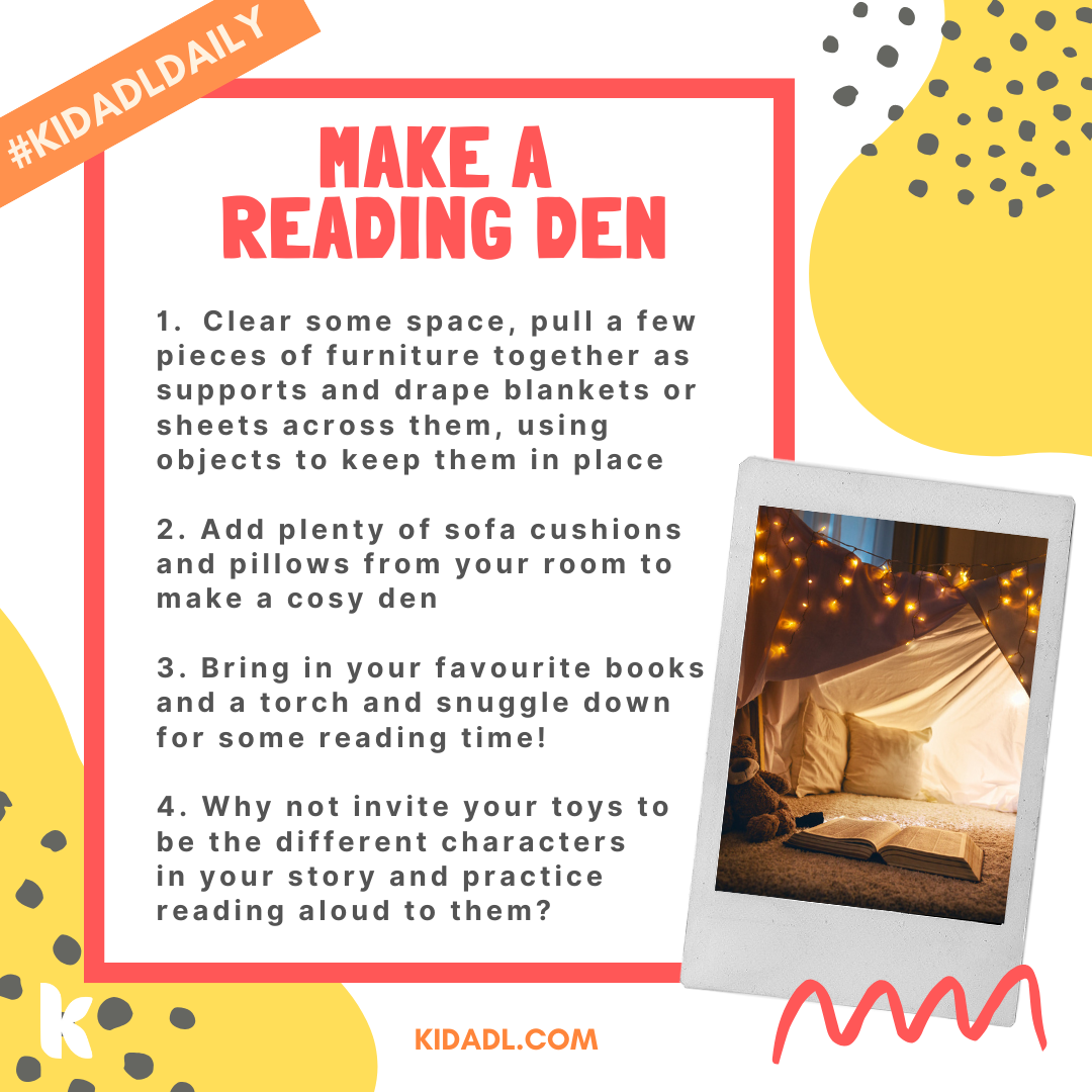reading den ideas for kids