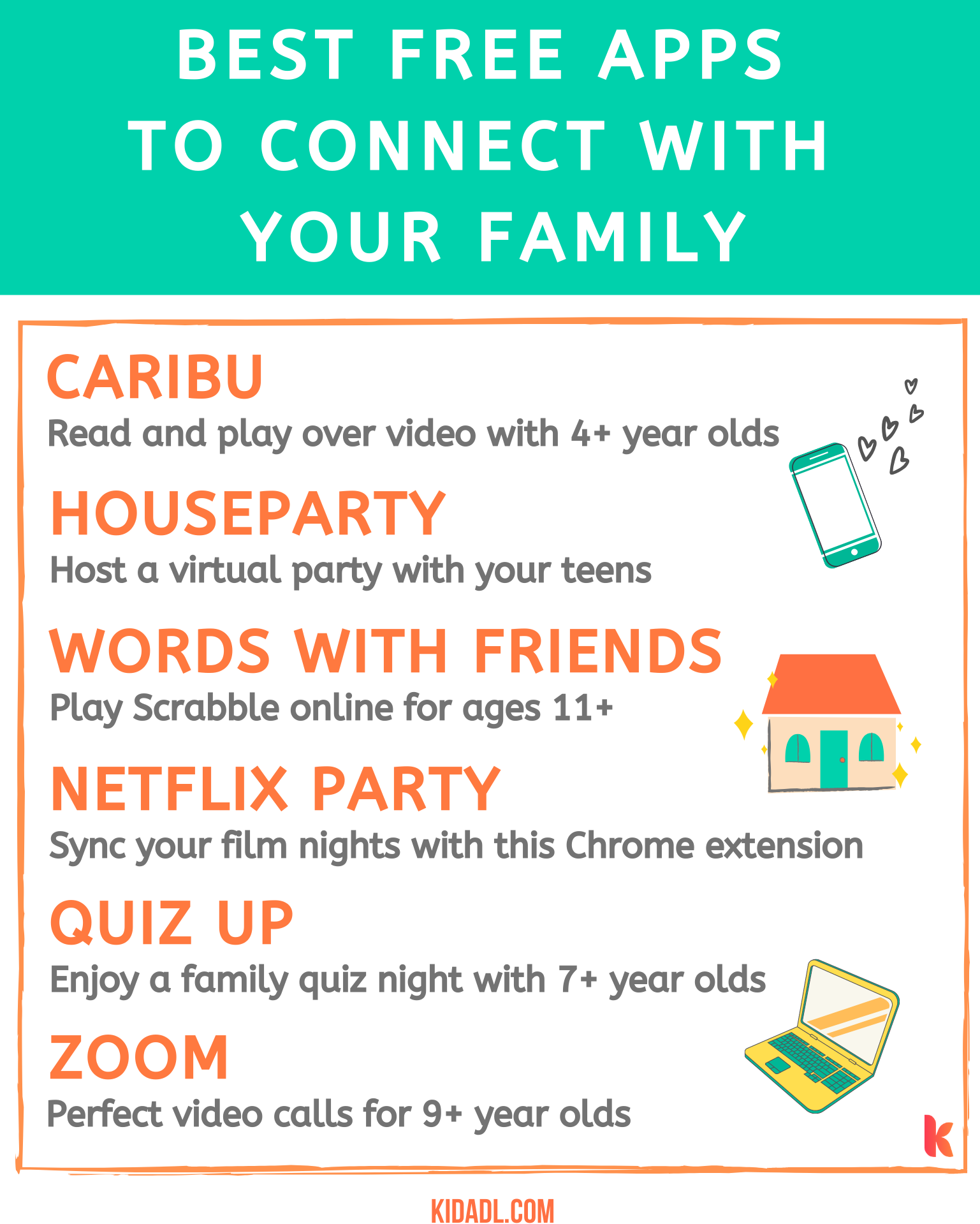 best apps to connect with family