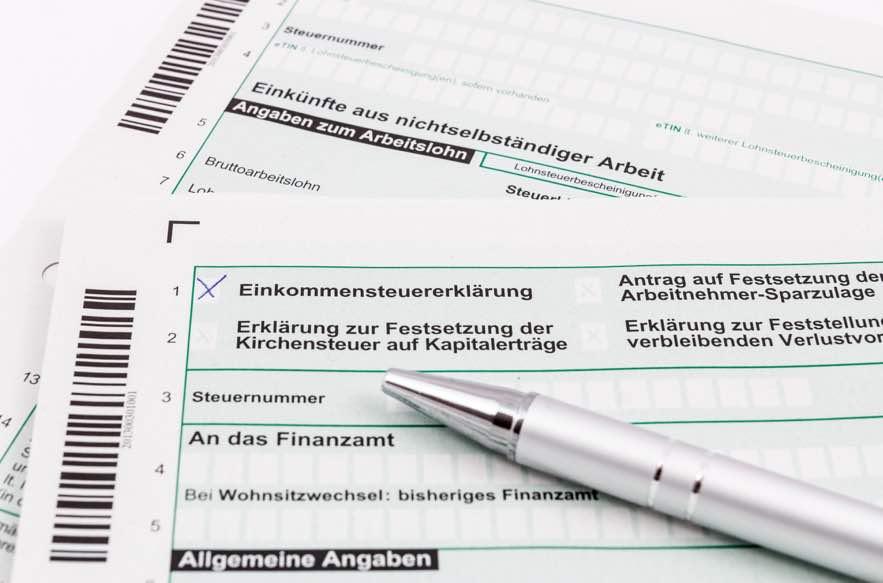 Steuererklaerung Foto