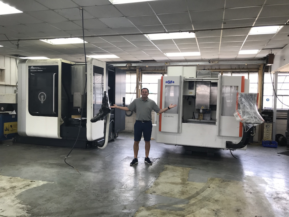 Paul Edwards with new CNC Machinery