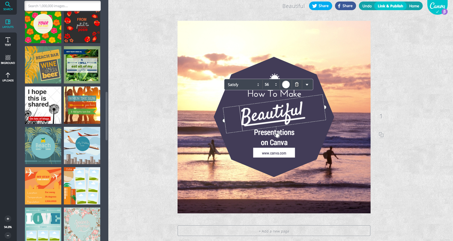 canva presentation example