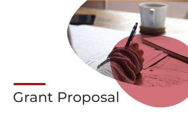 Grant proposal template, cover slide