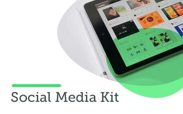 Modèle de kit pour les médias sociaux