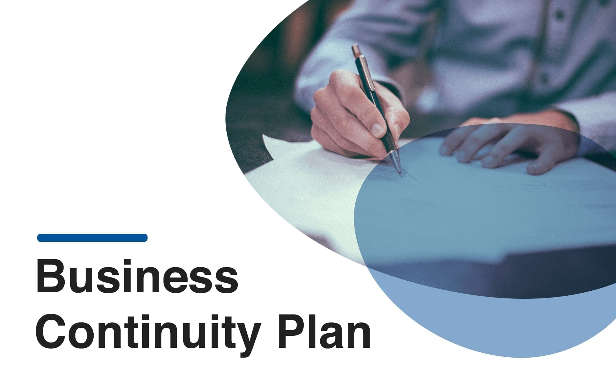 Business continuity plan template cover in a computer