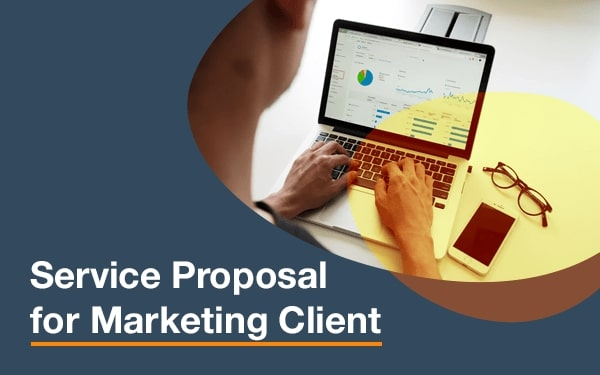 Service proposal template for marketing cover slide