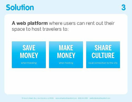 airbnb pitch deck solution slide