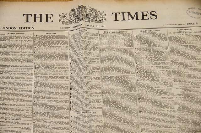 times new roman paper