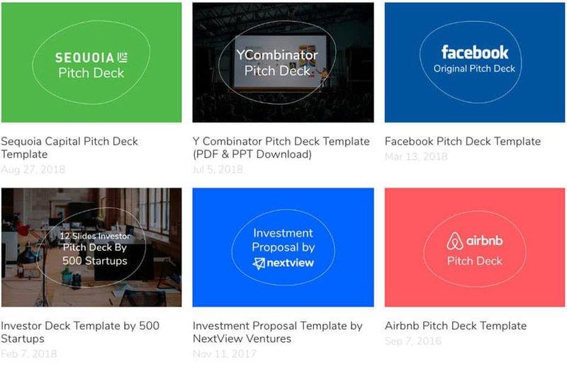 ejemplos de pitch deck