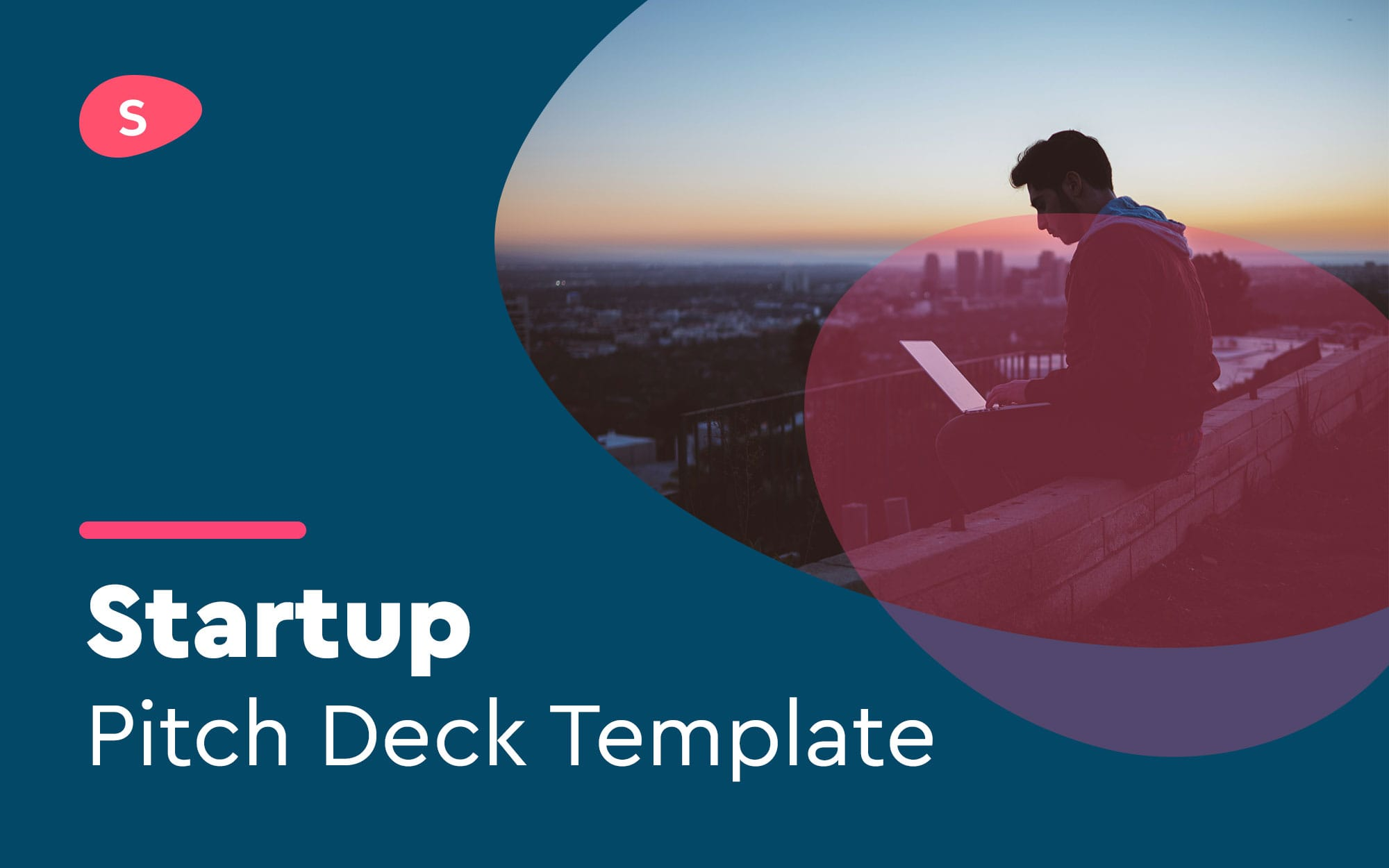 Startup pitch deck template cover