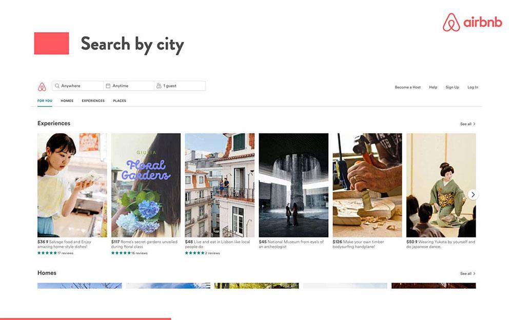 Airbnb pitch deck تزحلق