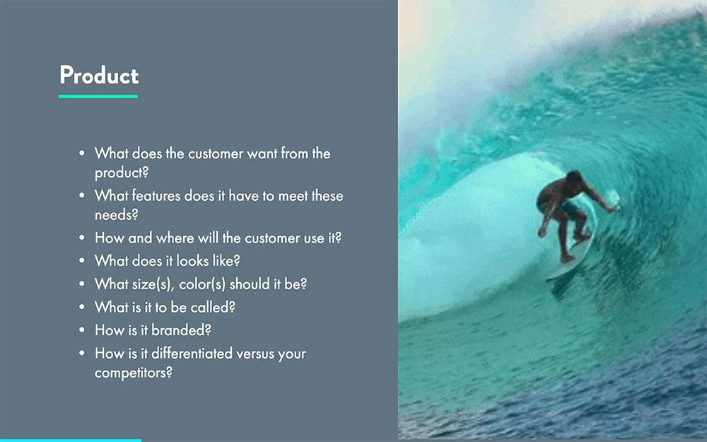 Four P's Of Marketing Presentation Template
