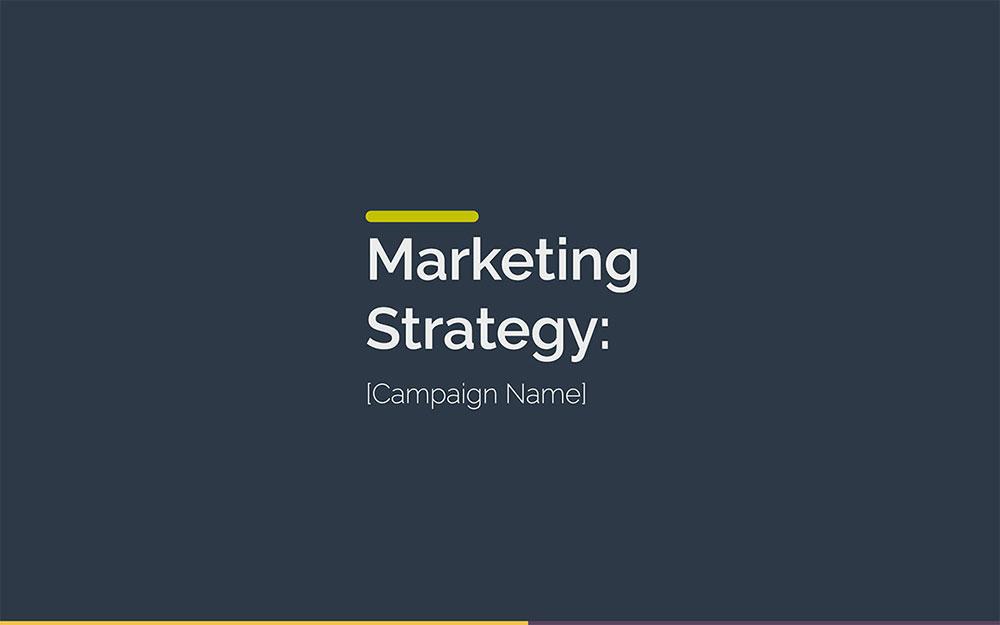 Modèle de plan de marketing