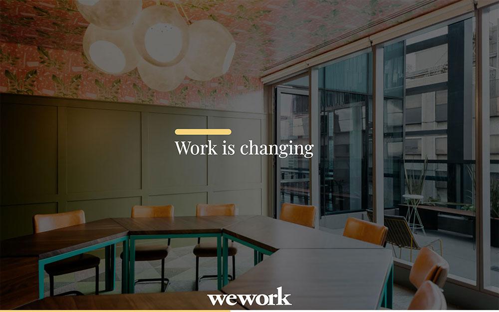 Wework pitch deck slide template