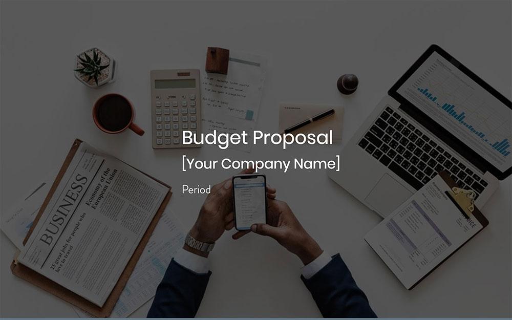 Modèle de proposition de budget