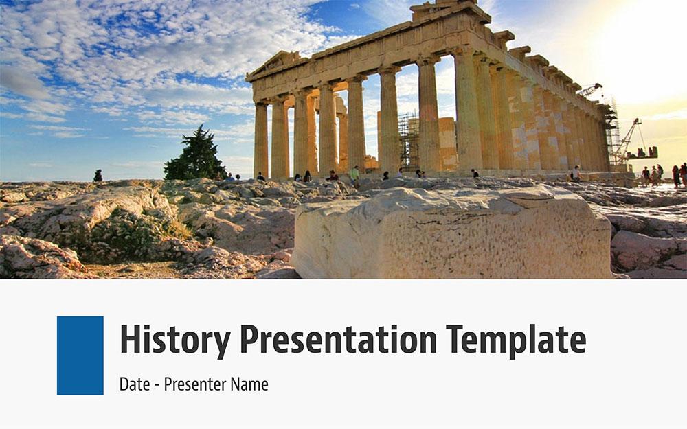 Modèles Powerpoint d'histoire
