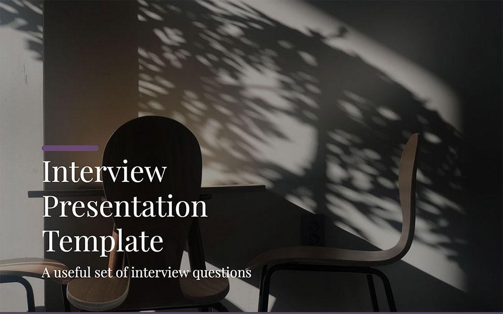 Modèles d'interviews en Powerpoint