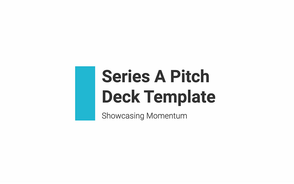 Series a pitch deck template slide