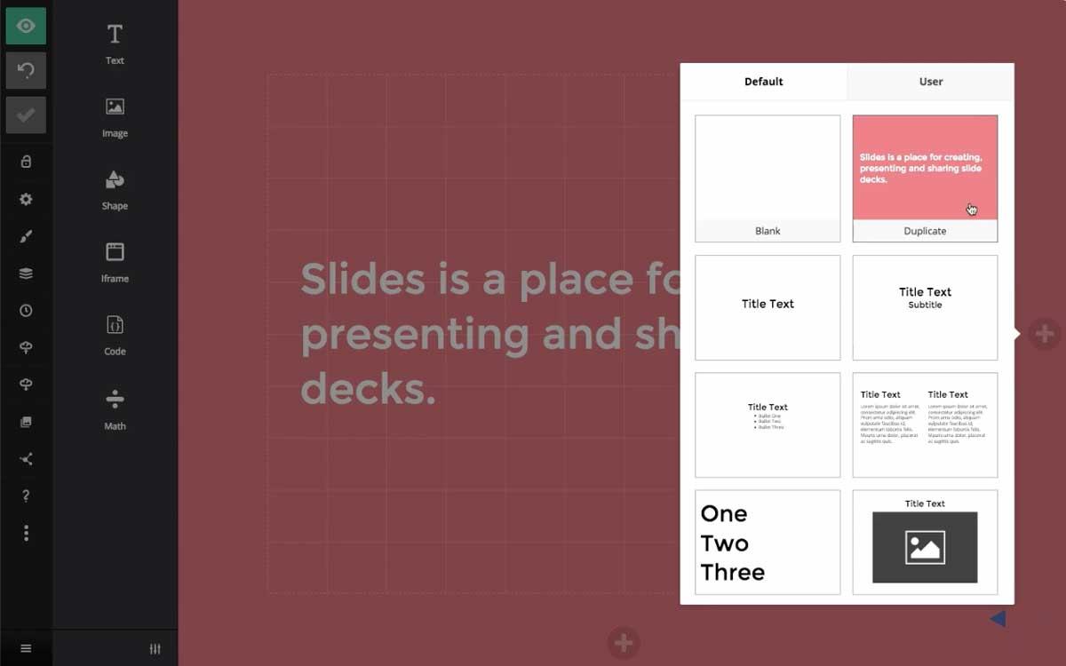 slides presentation software editor