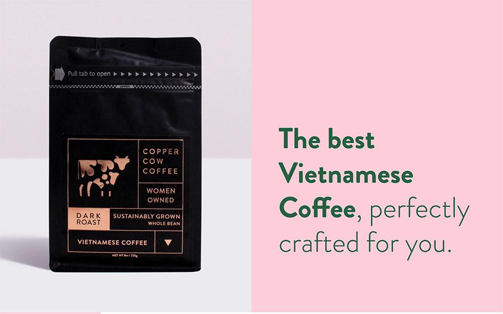 Diapositive du modèle Copper Cow Coffee