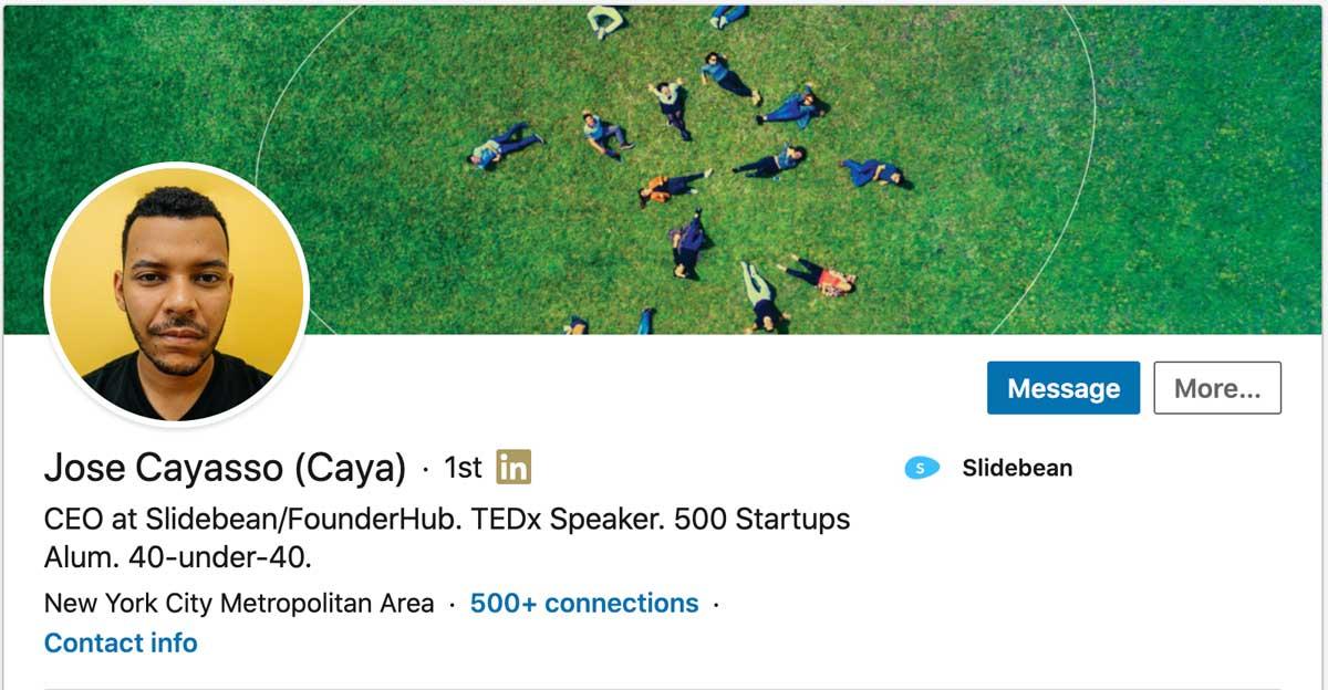 Caya's Linkedin profile