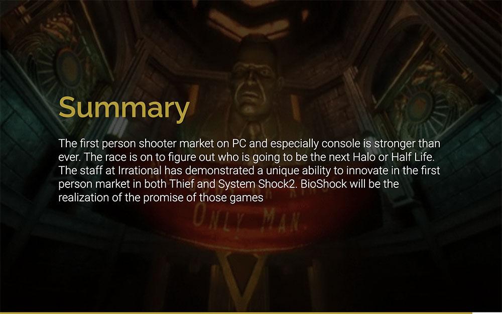 Bioshock: Game Pitch Template