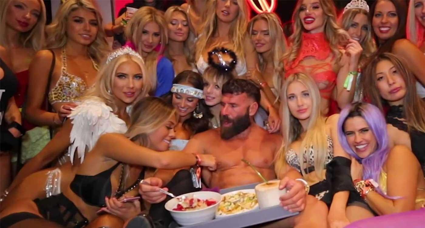 Dan bilzerian with a group of women
