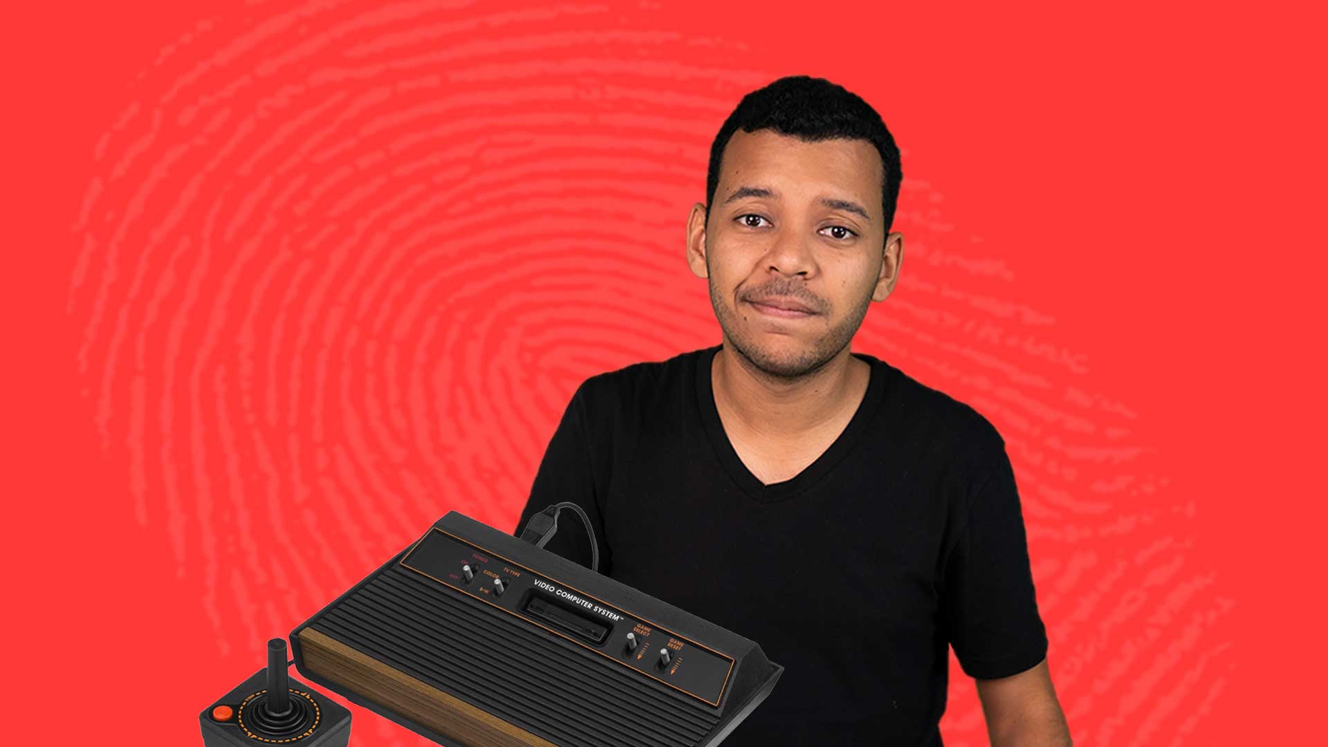 Atari Console Story: The Rise and Fall - Image contains show host over a red background