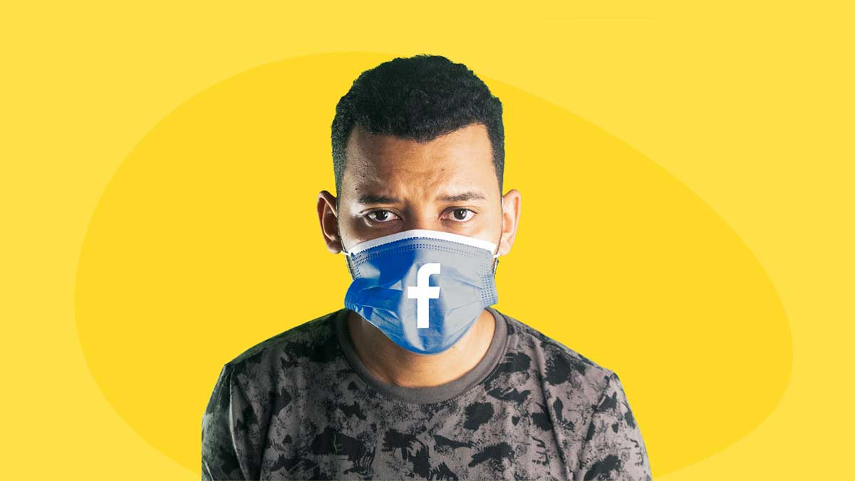 facebook boycott - image contains show host over a yellow background