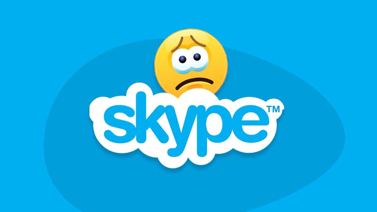 Skype failed: Microsoft is to blame - image contains skype's logo and a sad face emoji