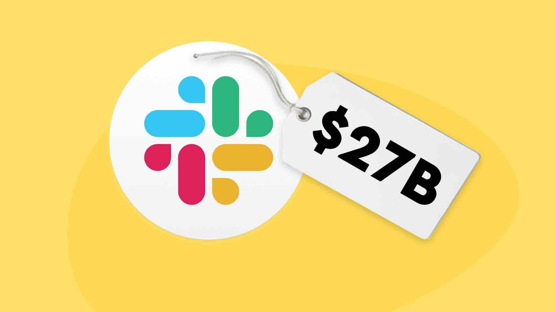 Slack logo with price tag