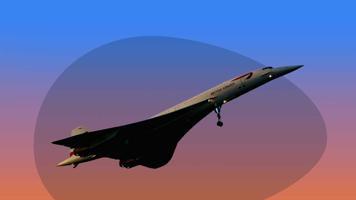 What happened to the Concorde - image contains the Concorde airplane taking off