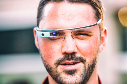 What happened to Google Glass - a man staring at the camera wearing Google Glass