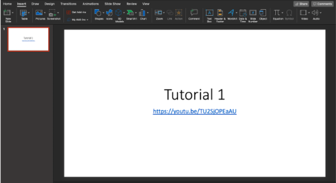 Image contains the video in powerpoint ready