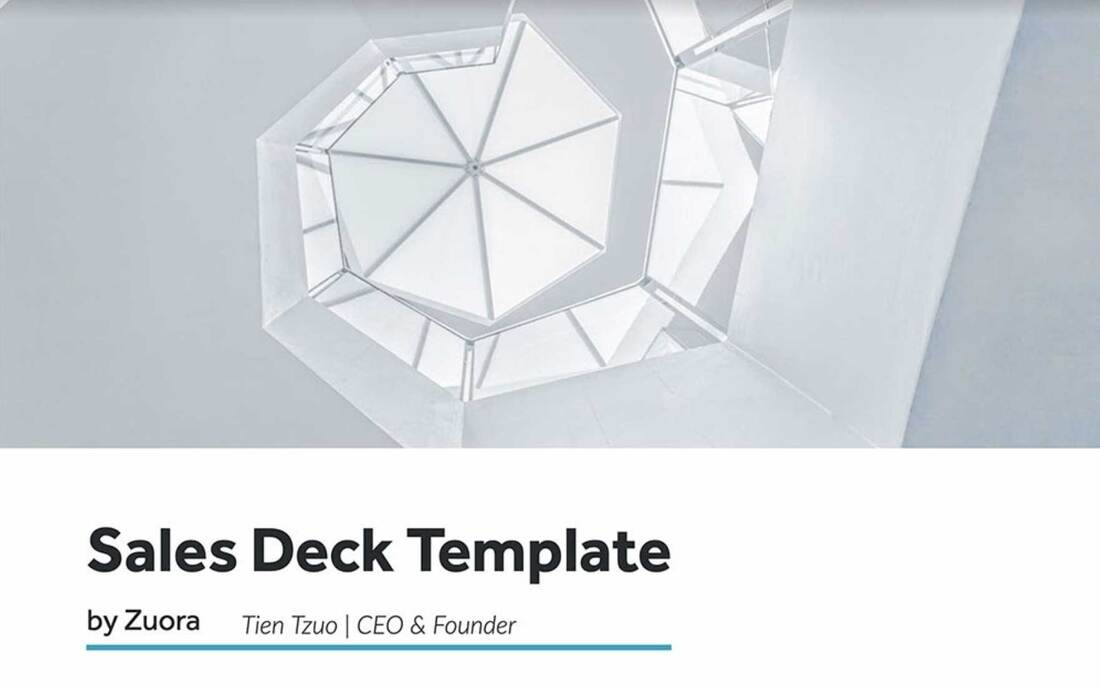 Image contains a sales deck template
