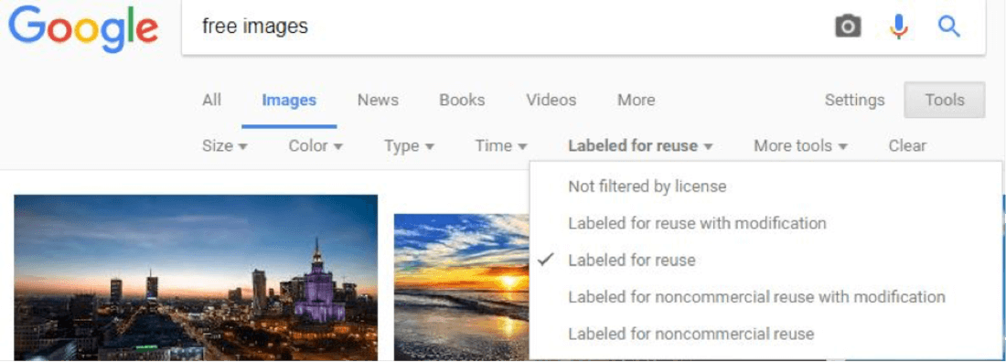 Image contains free images from google