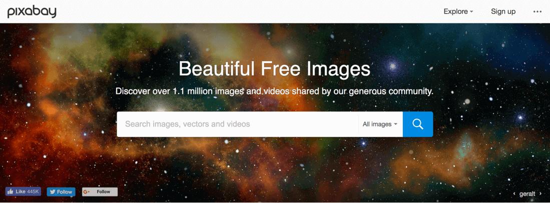 Image contains pixabay website