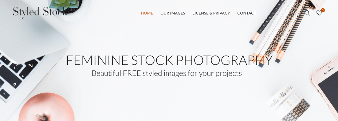 Image contains styledstock website