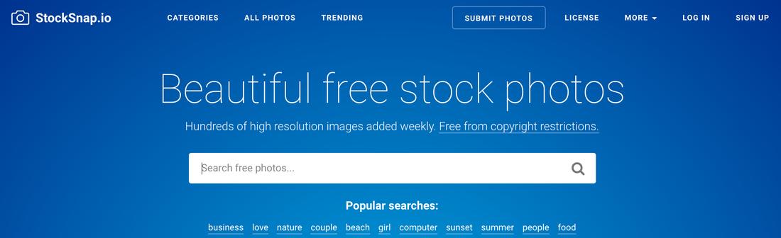 Image contains stocksnap.io website