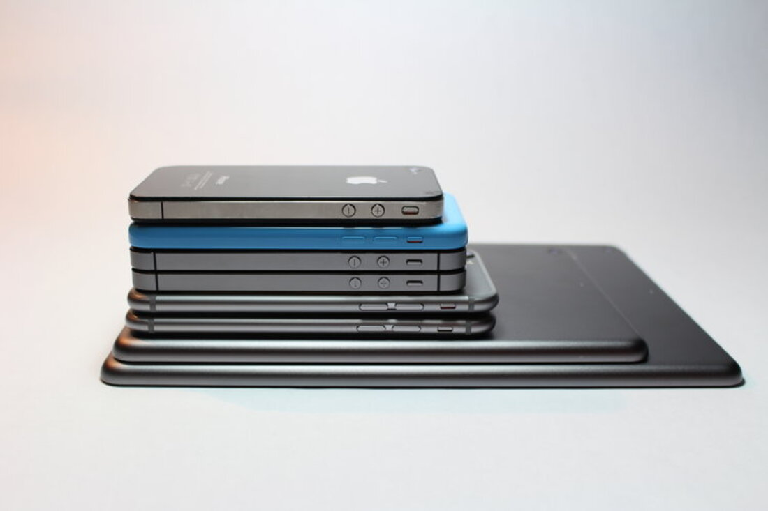 Image contains a phone over another phone