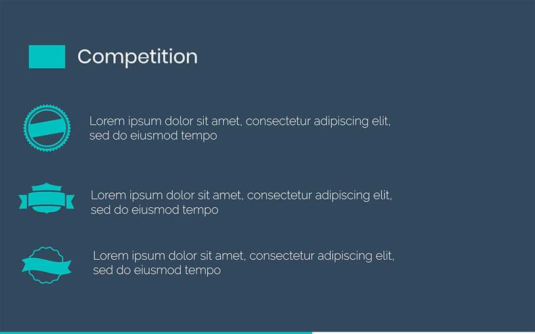 Image contains a competition slide