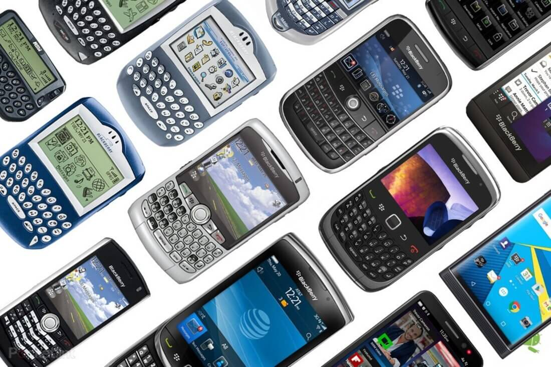 Image contains blackberry phones