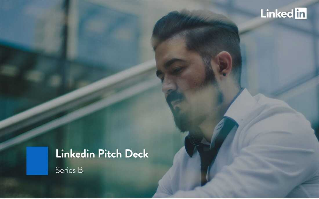 Image contains a LinkedIn pitch deck