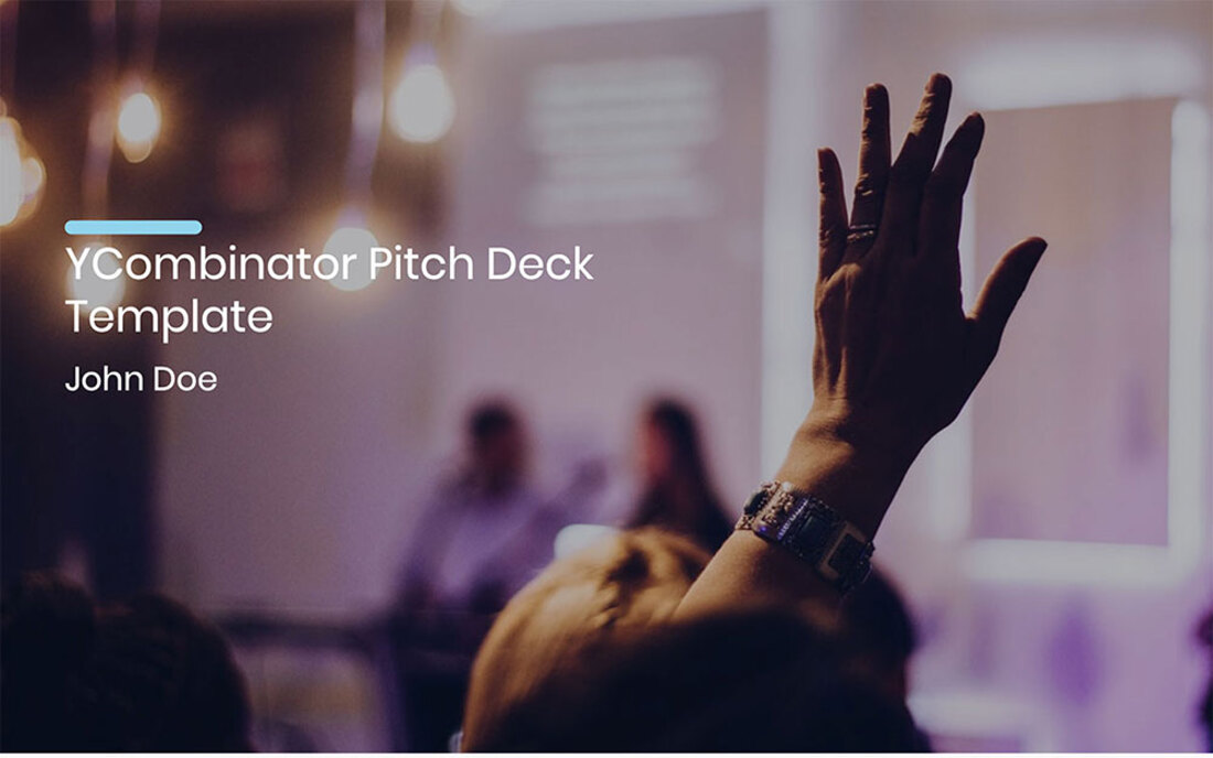 Image contains a ycombinator pitch deck template