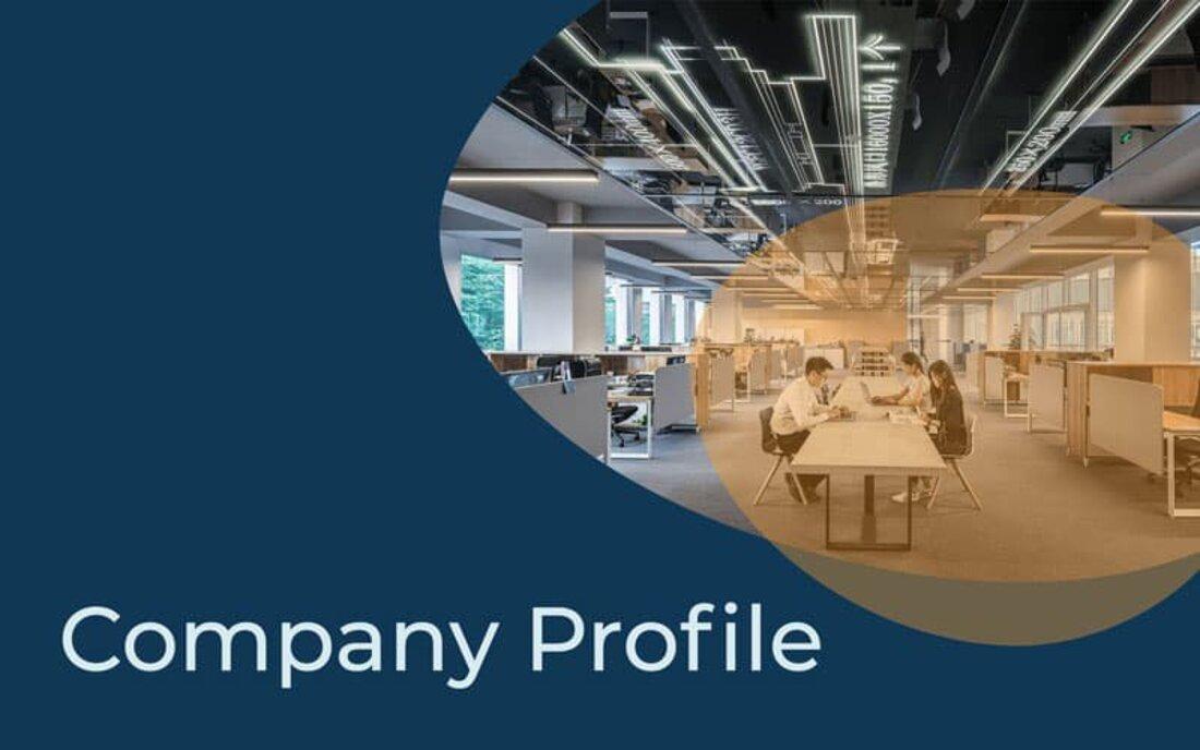 Image contains a company profile template