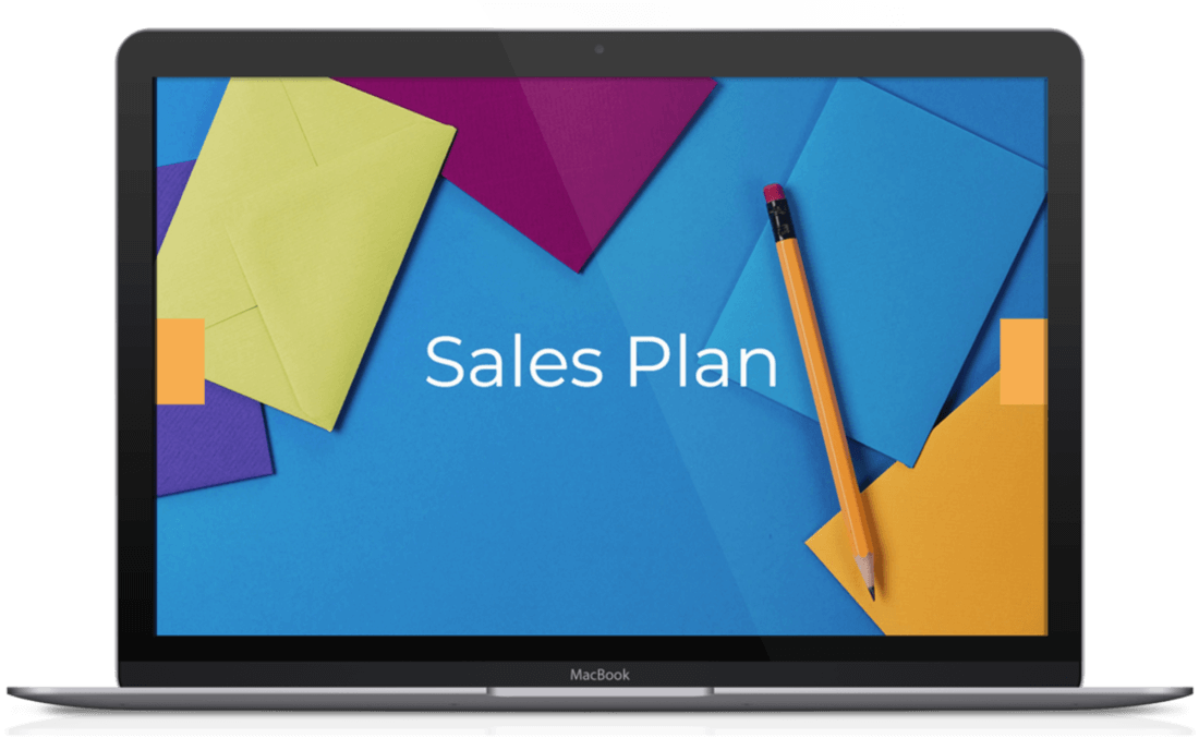 Image contains a sales plan template