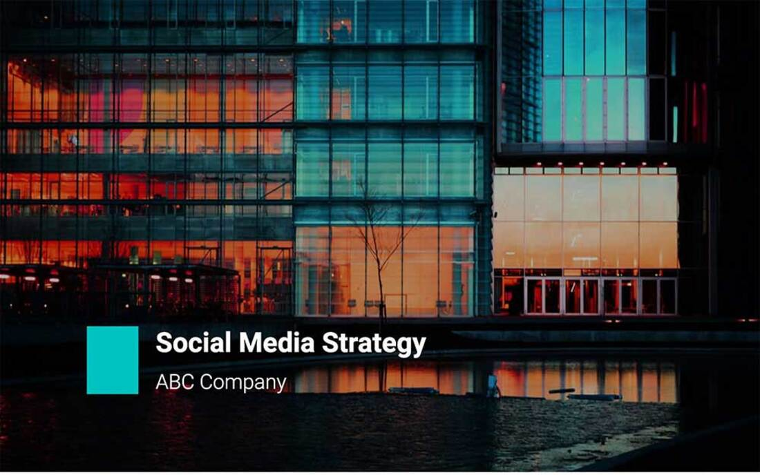Image contains a social media strategy template