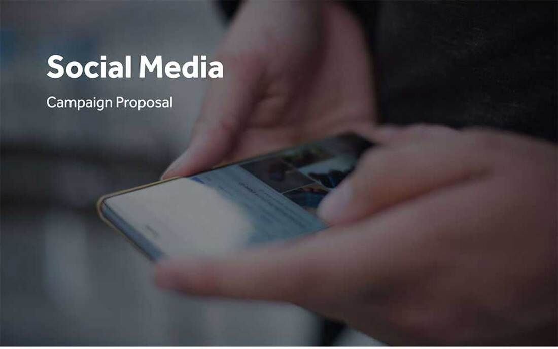 Image contains a social media proposal template