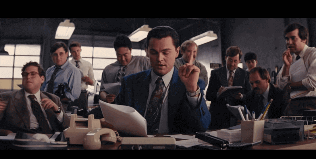 image contains a wolf of Wall Street scene