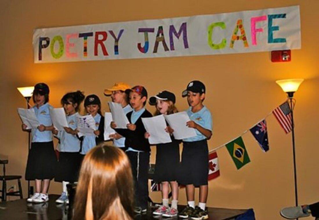 Image contains kids singing